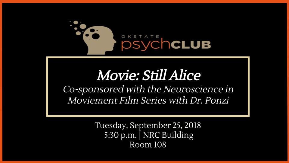 September 25 2018 Psych Club meeting